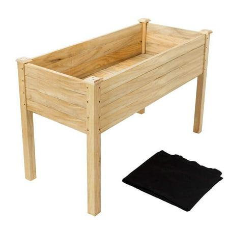 "Ktaxon 48.5"" x22.5"" x30"" Raised Garden Bed, Wood Flower Planter Box Stand, for Backyard, Patio"