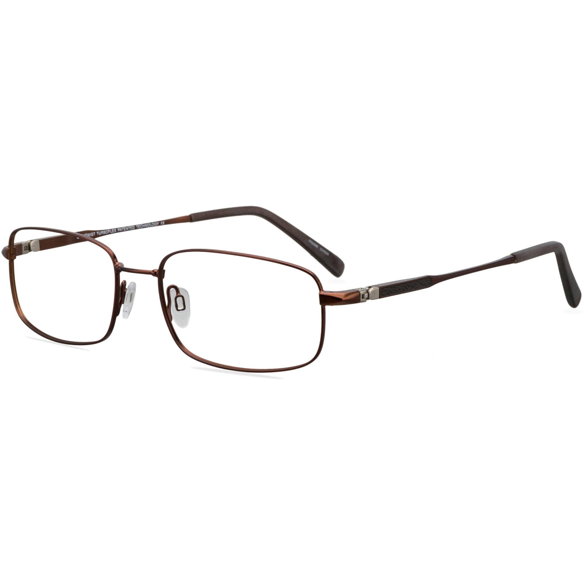 EasyTwist TurboFlex Mens Prescription Glasses, ET931 Brown