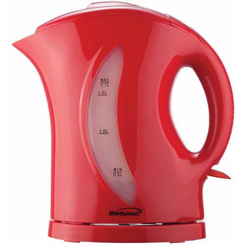 Brentwood 1.7 L Cordless Tea Kettle, Red