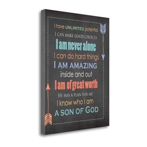 Tangletown Fine Art 'Son of God' Textual Art on Canvas