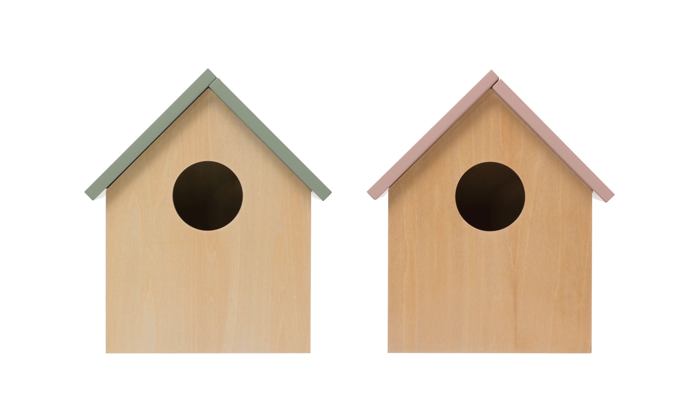Creative Co Op Decorative Wood Storage Birdhouse With Hinged Roof Set Of 2 Colors Walmart Com Walmart Com