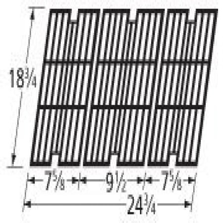 Music City Metals 63113 Gloss Cast Iron Cooking Grid Set Replacement For Select Gas Grill Models By Kenmore  Kmart And Others