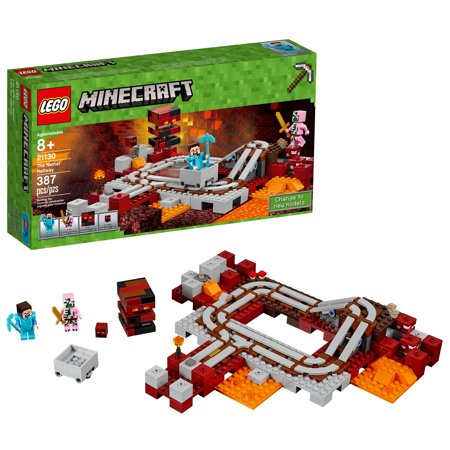LEGO Minecraft The Nether Railway 21130 for $<!---->