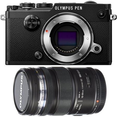 Olympus PEN-F 20MP Mirrorless Micro Four Thirds Digital Camera w/ 12-50mm Lens Bundle
