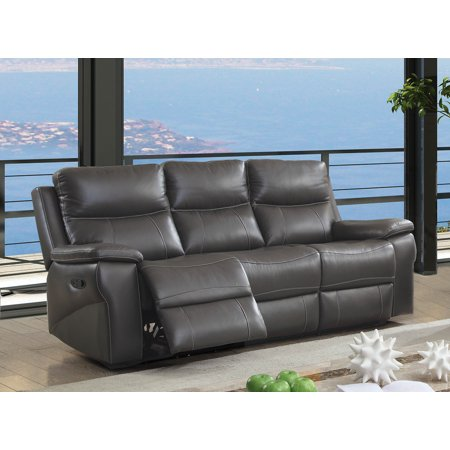 Furniture of America Michael Contemporary Leather Recliner Sofa