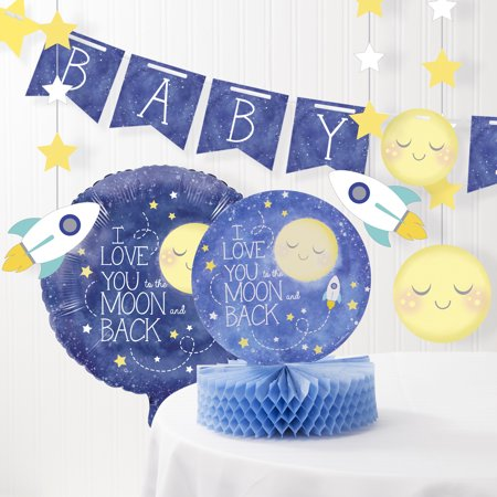 To the Moon and Back Baby Shower Decorations Kit