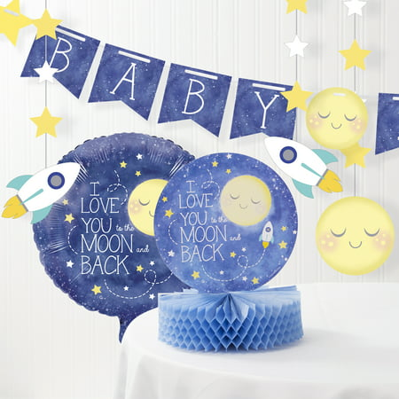 To the Moon and Back Baby Shower Decorations Kit - Easy Baby Shower Decorations