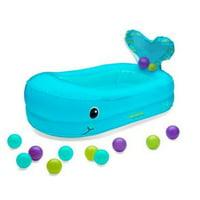 Infantino Whale Bubble Ball Inflatable Bath Tub