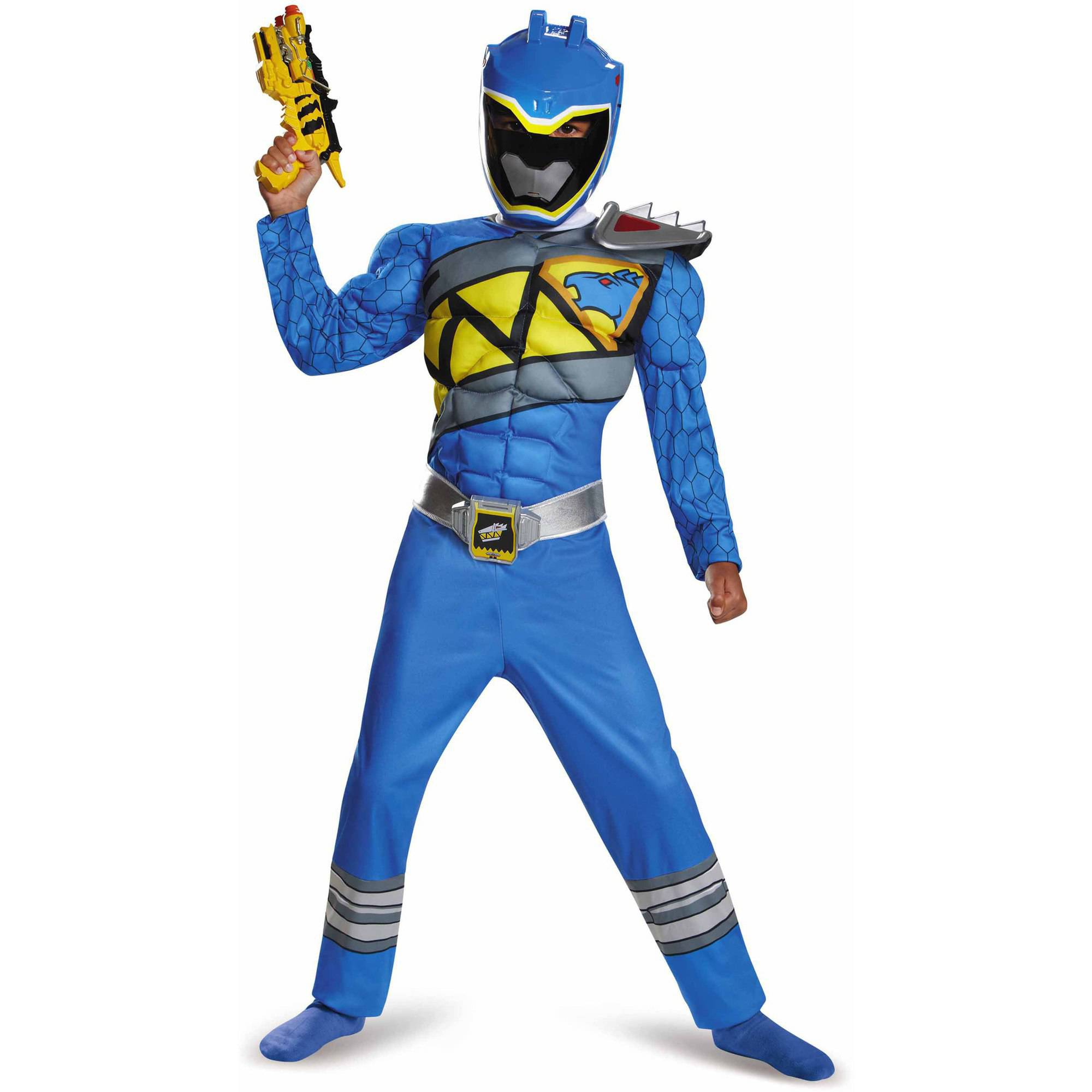 Blue Power Ranger Dino Charge Classic Muscle Child Halloween Costume