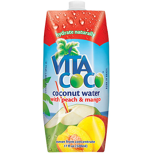 Vita Coco Pure Coconut Water with Peach & Mango, 16.9 fl oz