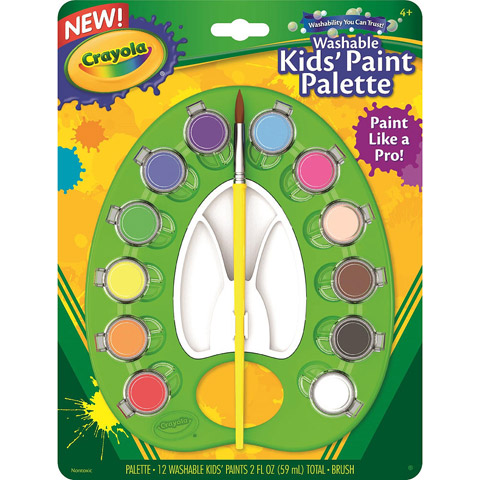 Crayola Washable Kids' Paint Palette - 12 Asst Colors