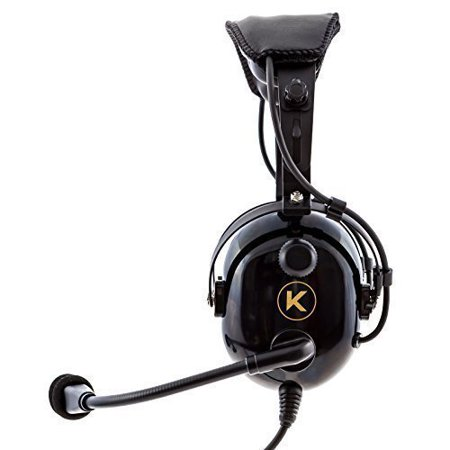 KORE AVIATION KA-1 Premium Gel Ear Seal PNR Pilot Aviation Headset with MP3 Support and Carrying