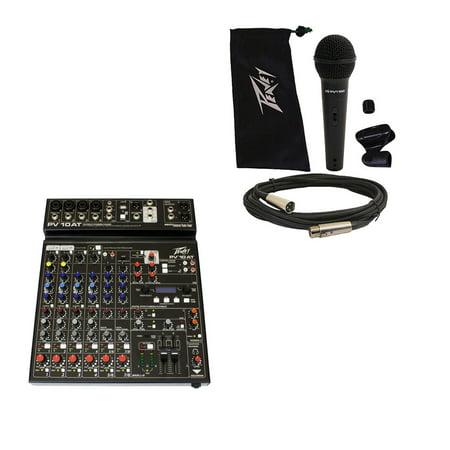 Peavey PV10 AT Pro Audio DJ Auto Tune 10 Channel Slim Mixer & PVi 100 -