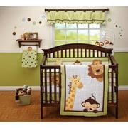 Little Bedding by NoJo Jungle Pals 3pc Crib Bedding Set