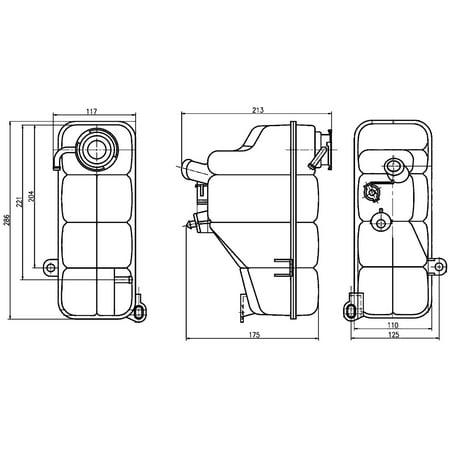Hella Behr 376755191 Engine Coolant Reservoir for Mercedes