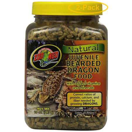 Zoo Med Natural Juvenile Bearded Dragon Food 10 oz - Pack of 2 (Juvenile Dragon Food)