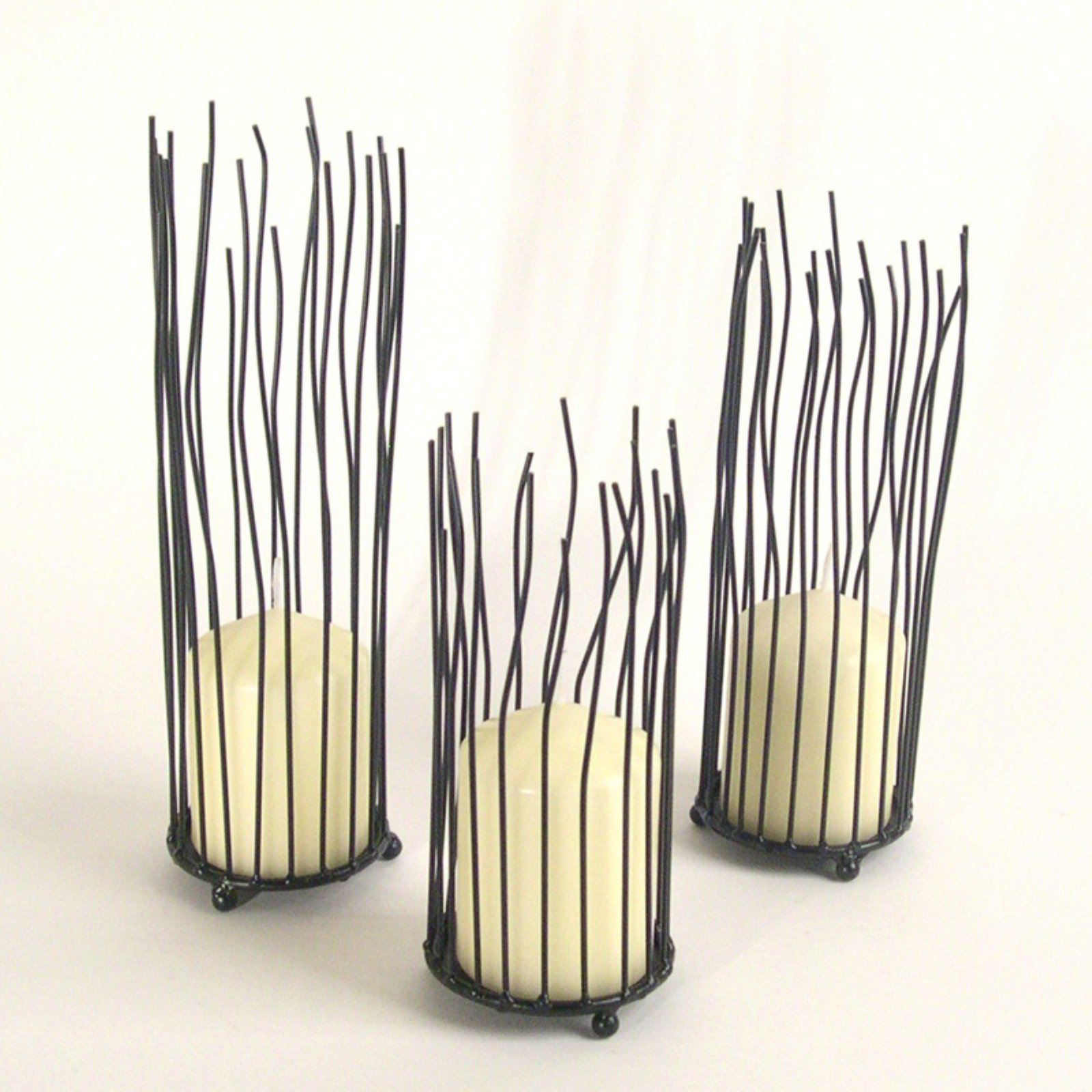 Danya B Willow Iron Candleholder - 3 Piece Set