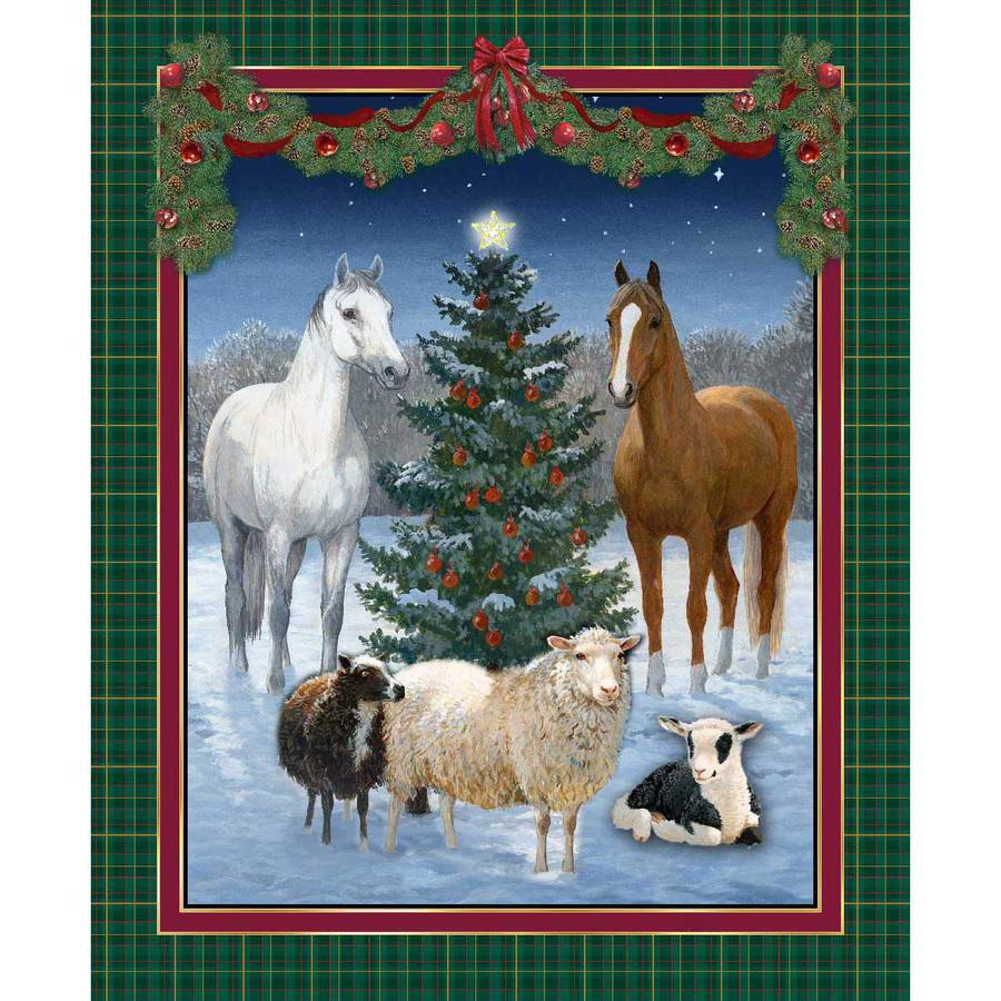 """Springs Creative The Gift 2 Wall Hanging, Multi-Colored, 43/44"""" Wide, Fabric By the Yard"""
