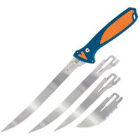 "Havalon XTC-TF Talon Fish 7""/5""/3.5"" Stainless Steel Clip Point Polymer Blue/Orange"