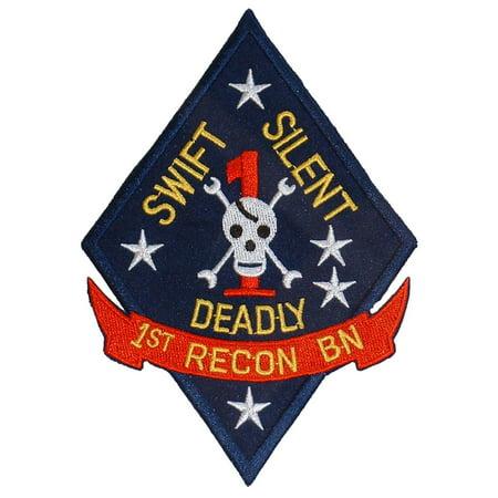 U.S.M.C. 1st Recon Battalion Patch Blue & Yellow - 1st Recon Battalion