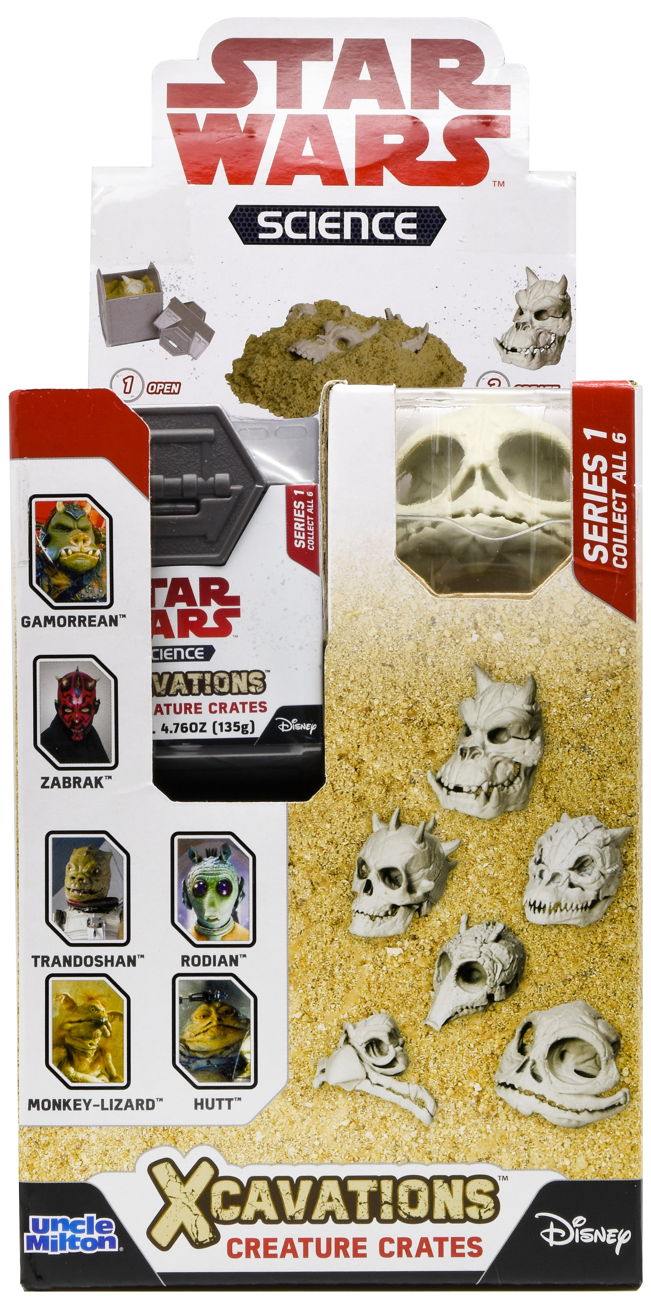 Star Wars Science Xcavations Creature Crates