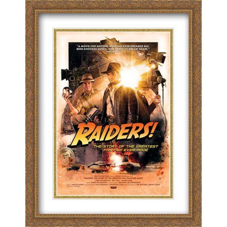 Halloween Fan Made Film (Raiders!: The Story of the Greatest Fan Film Ever Made 28x36 Double Matted Large Large Gold Ornate Framed Movie Poster Art)