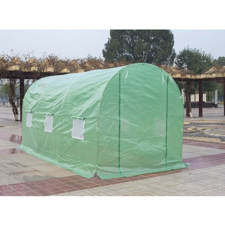 Outsunny 15' x 7' x 7' Outdoor Portable Walk-In Greenhouse w/ Windows