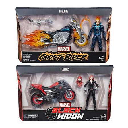 Marvel Legends Infinite 6 Inch Action Figure Riders Series - Set of 2 (Black Widow - Ghost Rider)