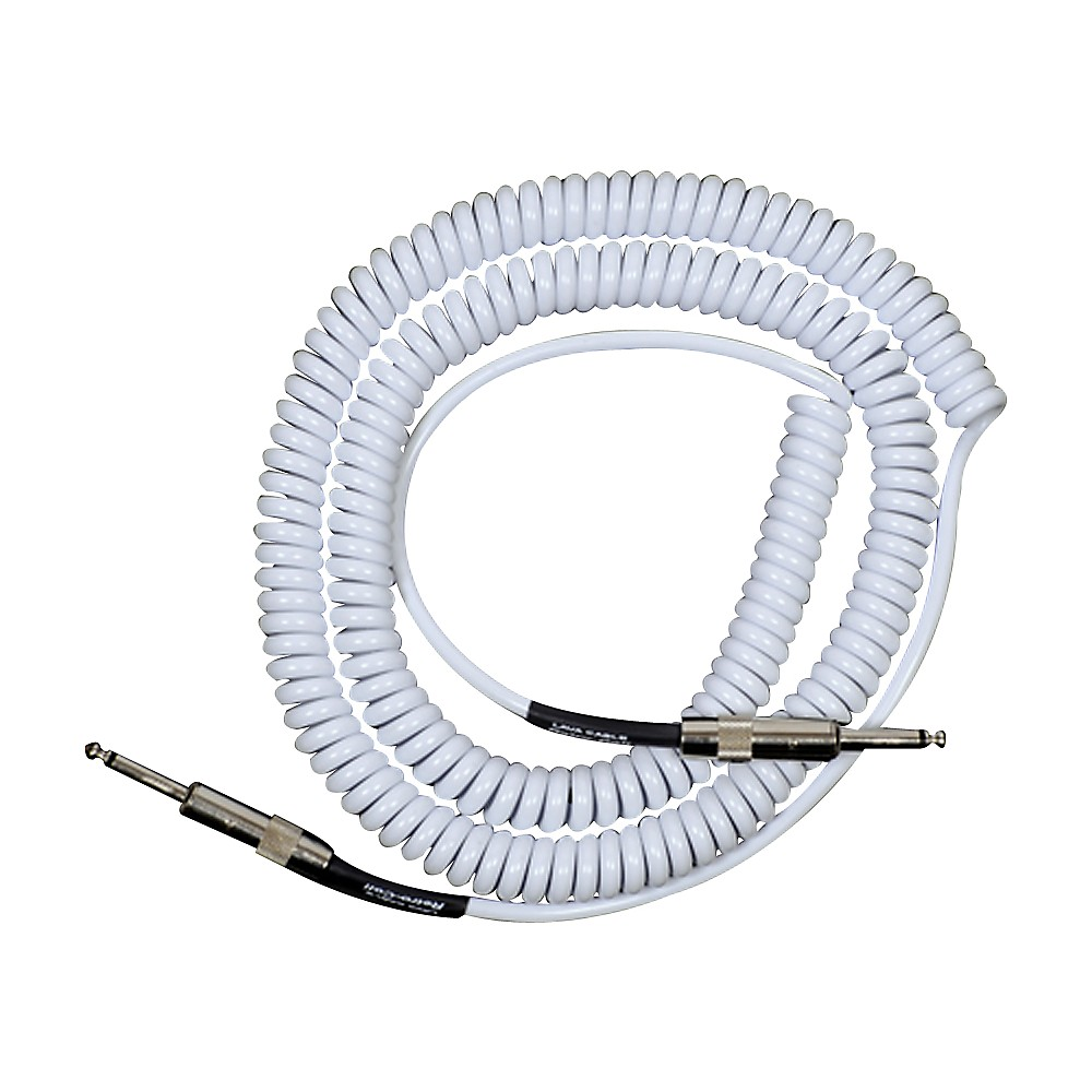 Lava Retro Coil 20-Foot Silent Instrument Cable Straight-Straight Assorted Colors White