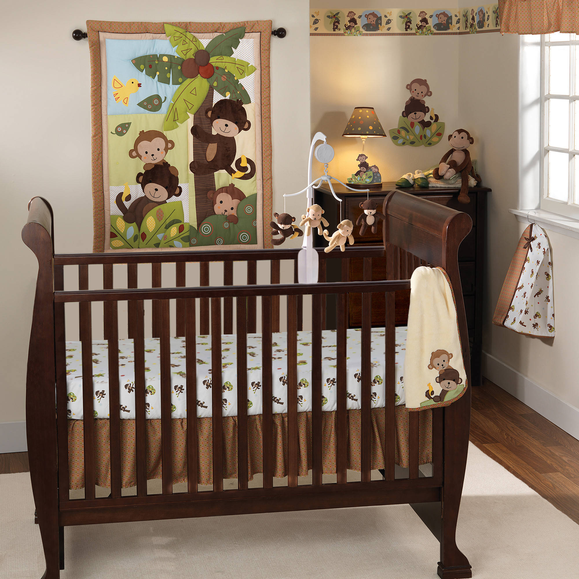 Bedtime Originals by Lambs & Ivy - Curly Tails Crib Bedding 3-Piece Set