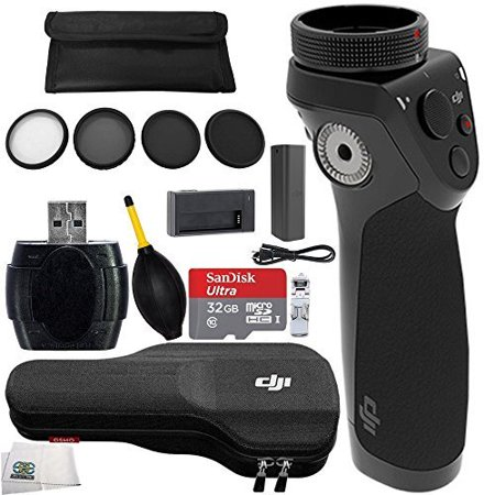 Accessory Kit for Zenmuse X3 (Inspire 1 Variant). Includes DJI Osmo Handle Kit + SanDisk Ultra 32GB microSDHC Memory Card + 4PC Filter Kit (UV-CPL-ND4-ND8) + MORE