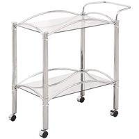 Coaster Serving Bar Cart, Chrome