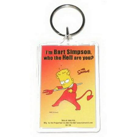 Simpsons Bart Devil Costume Lucite Keychain SK158