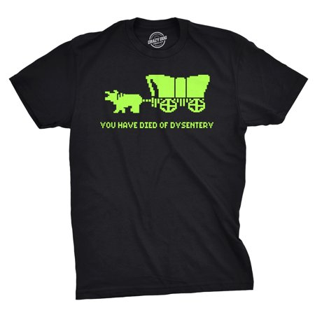 You Have Died Of Dysentery T Shirt Funny Gamer Shirts Video Games Nerdy ()