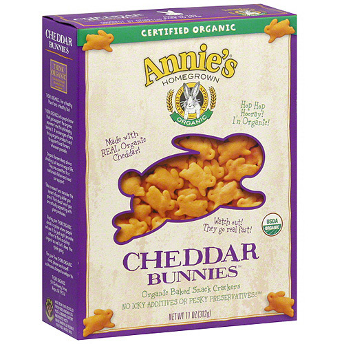 Annie's Homegrown Organic Cheddar Bunnies Crackers, 11 oz (Pack of 12)