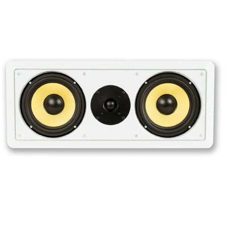 """Acoustic Audio HD-6c Flush Mount Speakers Dual 6.5"""" Woofers In Wall 2 Pack - image 3 of 4"""