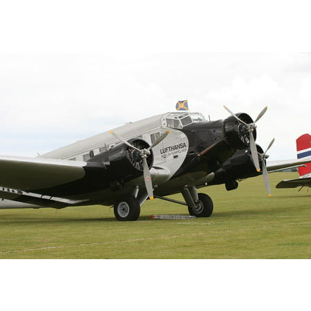Canvas Print Auntie Ju Ju52 Historically Junker Aircraft Stretched Canvas 10 x 14 ()