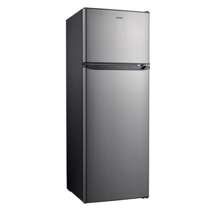 Galanz 12 Cu Ft Top Freezer Refrigerator, Frost Free, Stainless