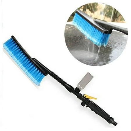 Tuscom Car Wash Brush Hose Adapter Vehicle Truck Cleaning Water Spray Nozzle Car (Brush Adapters)