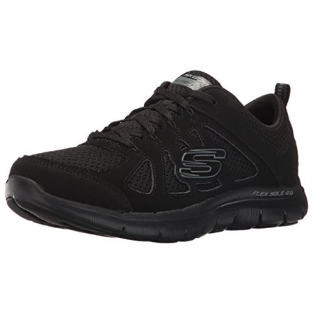 Skechers Sport Women's Flex Appeal 2.0 Simplistic Fashion Sneaker, Black, 7 C US