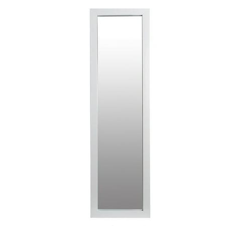 White Full Length Over The Door Mirror 12