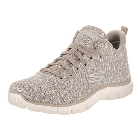 Frauen Relaxed Fit Empire Connections Walking Sneaker, Taupe Skechers