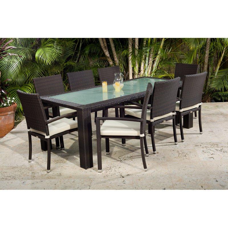 Source Outdoor Zen All-Weather Wicker Patio Dining Set - Seats 8