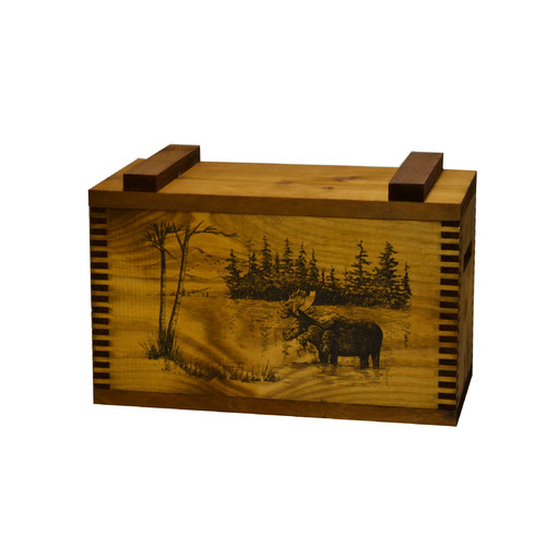 Evans Sports Standard Storage Box with Moose Print