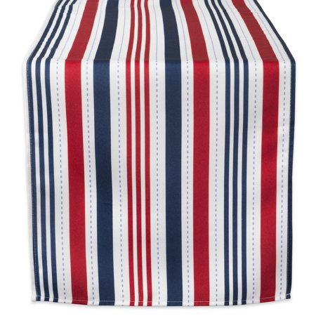 DII Patriotic Stripe Outdoor Table Runner, 72 x 14
