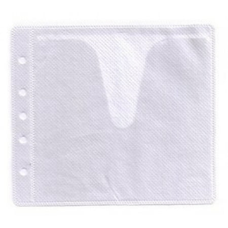 CheckOutStore 500 CD Double-sided Refill Plastic Sleeve White Double Sided White Refill Sleeve