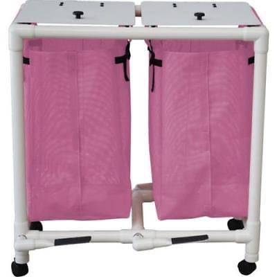 Echo Double Hamper With Mesh Bags And Foot Pedal - Mauve