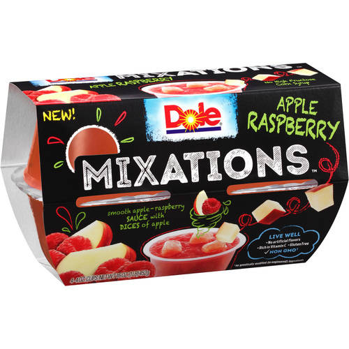 Dole Raspberry Applesauce Mix, 4 oz, 4 count
