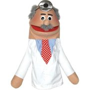 Get Ready 433C doctor puppet- male- Caucasian- 18 inch