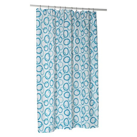 Circles Extra Long Polyester Shower Curtain Liner